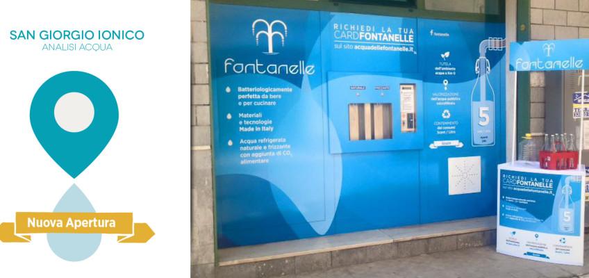 Scarica le analisi della fontanella di San Giorgio Ionico, richiedi subito la CARD Fontanelle